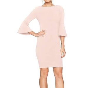 NWT Calvin Klein 3/4 peplum sleeve dress